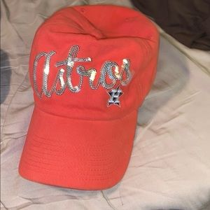 Astros women's Sequin Baseball Cap